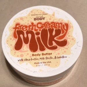 Perfectly posh fresh creamy milk body butter
